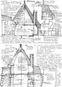 Il trullo,, schizzo dell'arch. Bradascio
